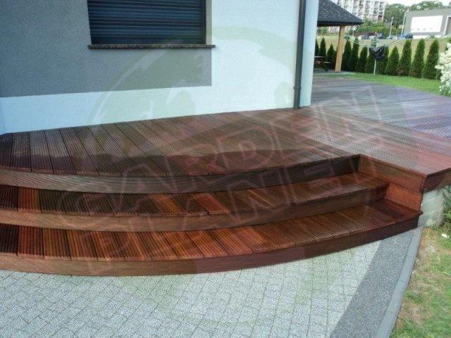 Taras drewniany z deski egzotycznej Massaranduba