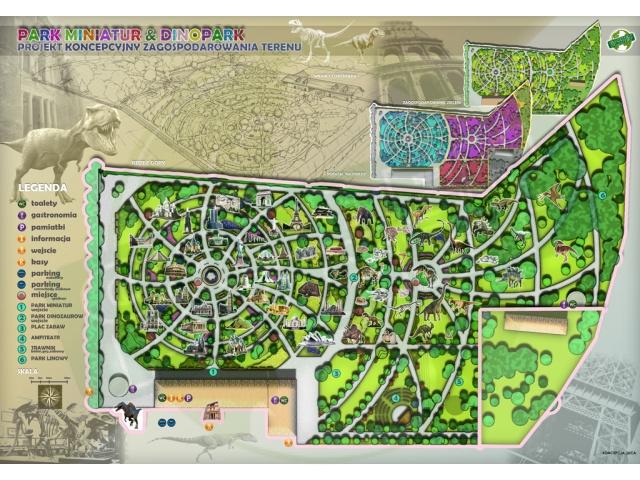 Zagospodarowanie terenu w parku - Ochaby